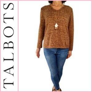 Talbots Cashmere & Silk Blend V-Neck Sweater